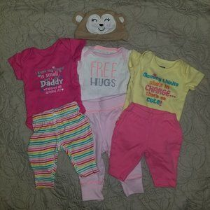 Newborn girl's outfit lot